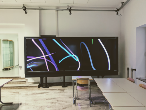 OLED VideoWall with resolution 10800x3840 and 32 point touch screen capabilities.